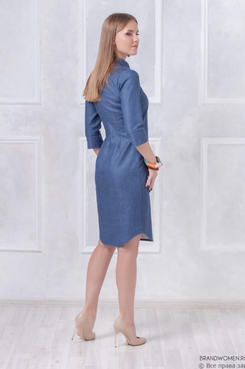 Платье длины миди с рубашечным верхом