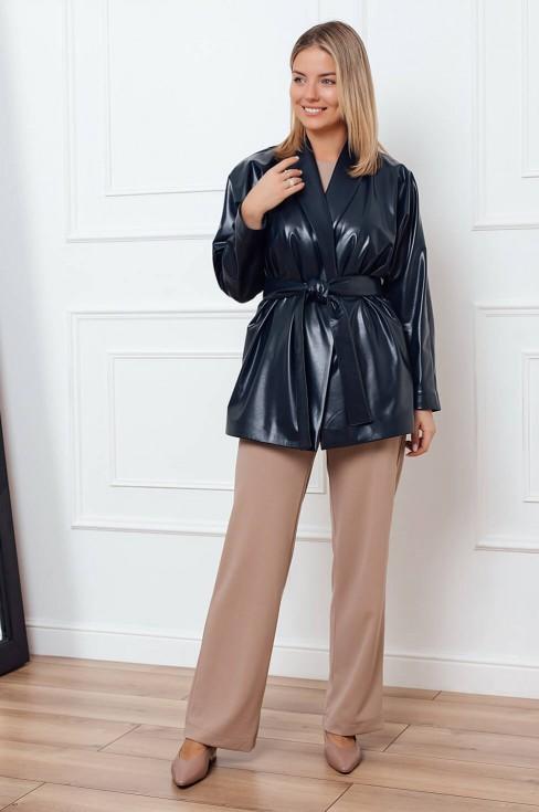 Куртка-пиджак из экокожи
