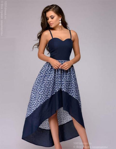 Разноуровневое платье-сарафан