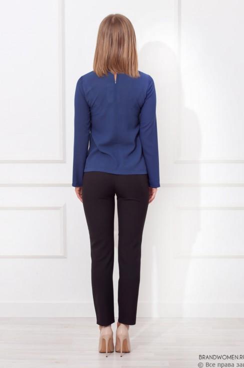 Блуза с длинным рукавом и планкой на груди