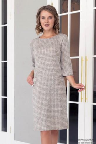Платье прямого кроя длины мини