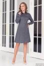 Платье-рубашка длины мини с длинными рукавами