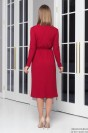 Платье-миди с кардиганом и поясом