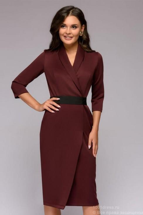 Платье футляр с поясом в комплекте