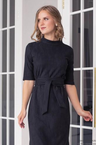Замшевое платье-миди с разрезами