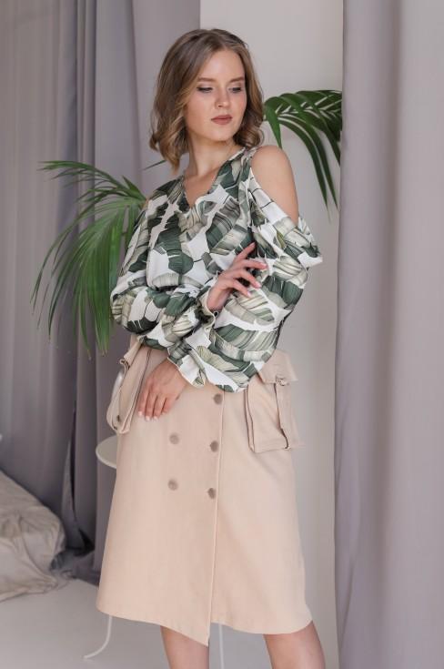 Блуза с принтом Lilya Sidorova-BRANDWOMEN