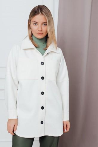 Пальто-рубашка длины мини
