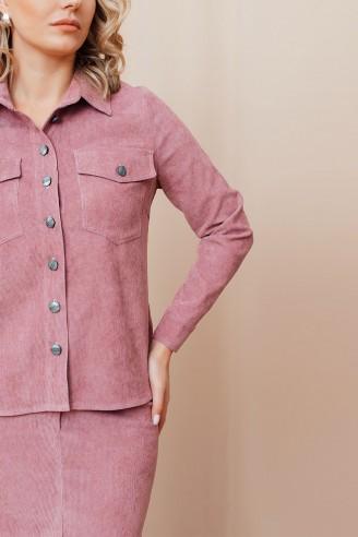 Костюм вельветовый из рубашки и юбки