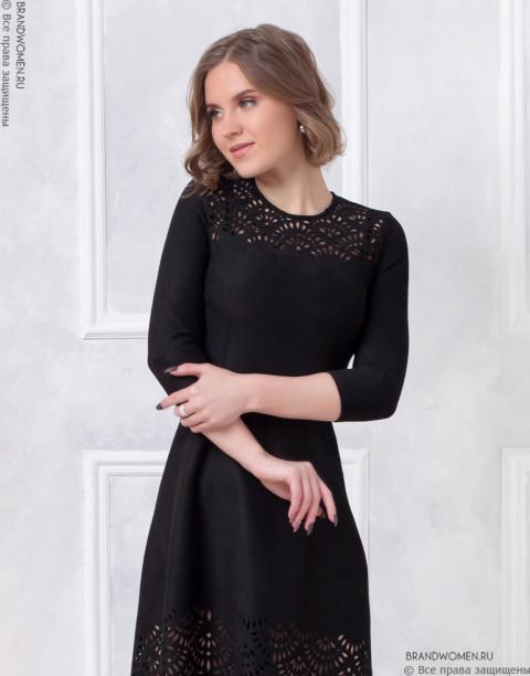 Разноуровневое платье с узором