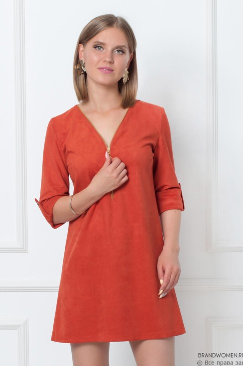 Платье-мини с молнией