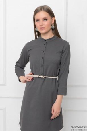 Платье прямого кроя с пуговицами