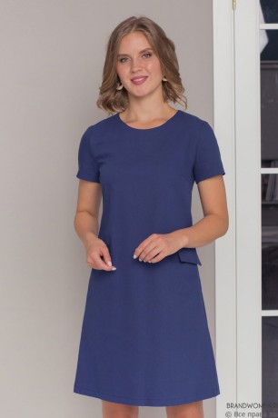 Джинсовое платье-мини с короткими рукавами