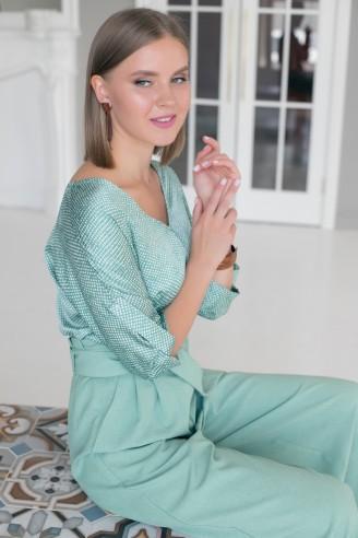 Топ с принтом Lilya Sidorova-BRANDWOMEN