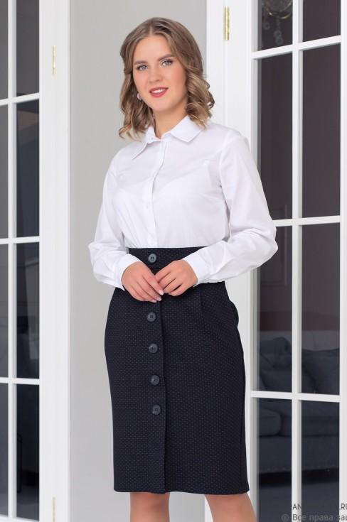 Трикотажная юбка с пуговицами