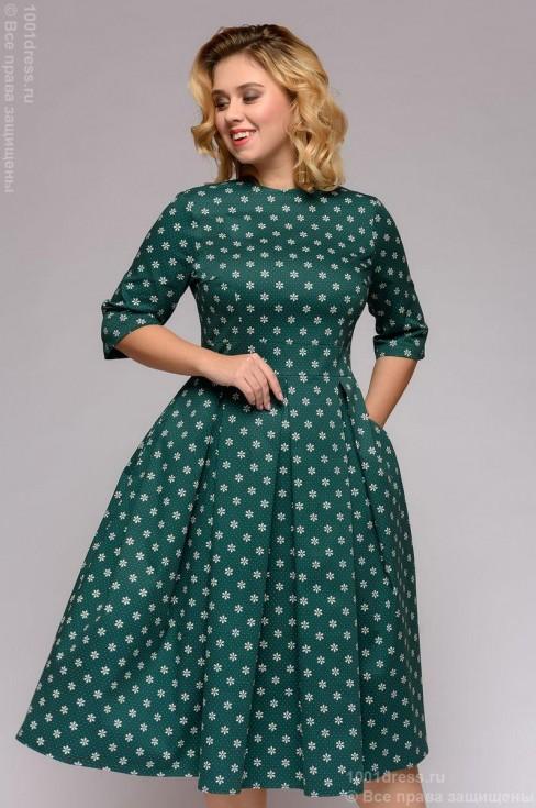 Платье-миди с вырезом на спинке