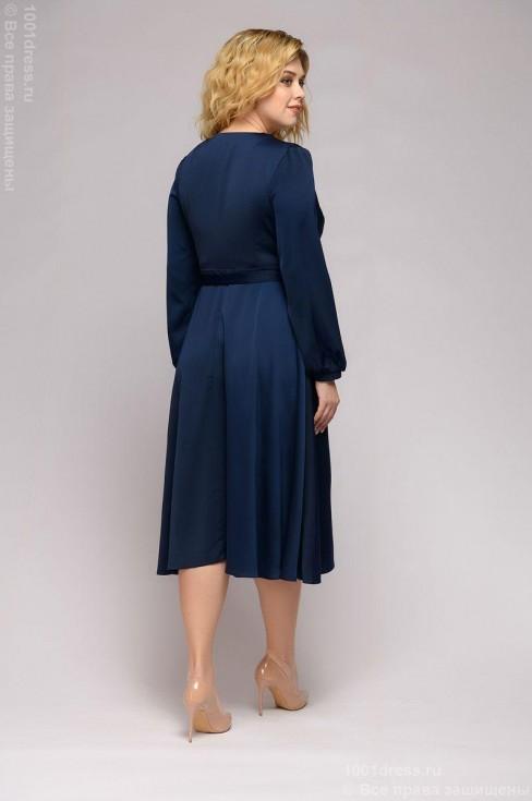Платье-миди с эффектом запаха