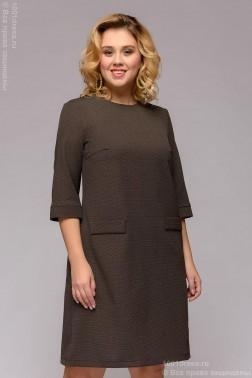 Платье-трапеция в мелкий горошек