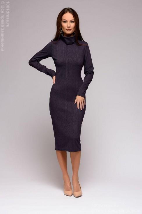 Платье-бадлон длины миди