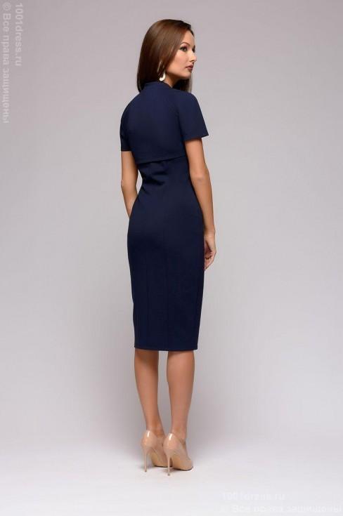 Трикотажное платье с молнией спереди