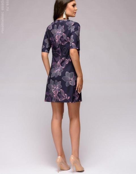 Платье А-силуэта с принтом