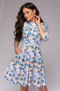 Платье-мини с принтом и карманами