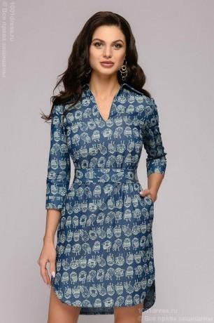 Разноуровневое платье-рубашка