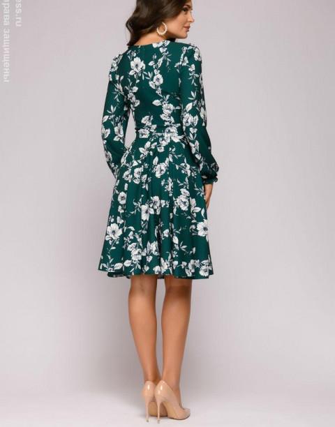 Платье мини с пышной юбкой