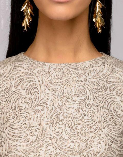 Платье-трапеция из фактурной ткани