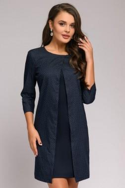 Платье-мини с оригинальной вставкой