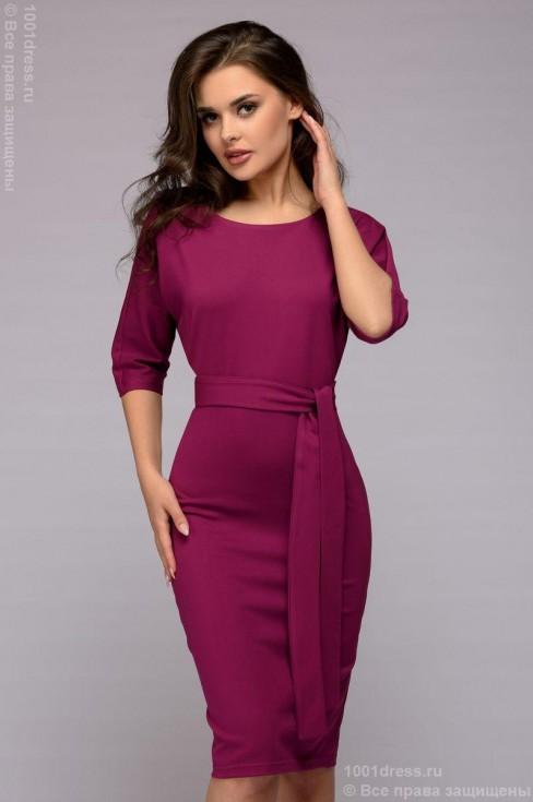 Платье-миди с пуговицами на спине
