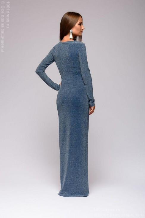 Платье в пол с люрексом