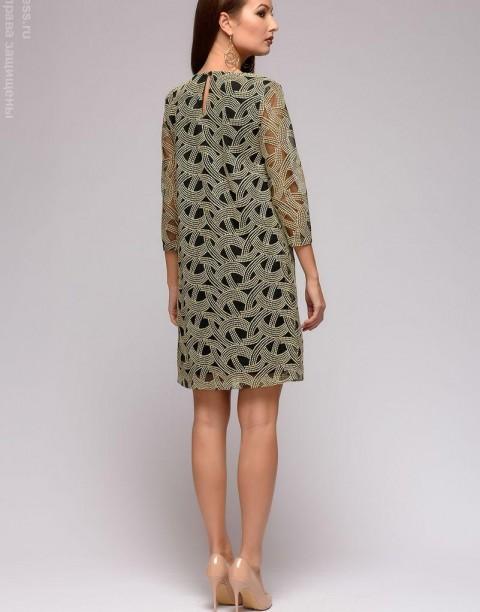 Платье-мини с эффектом накидки