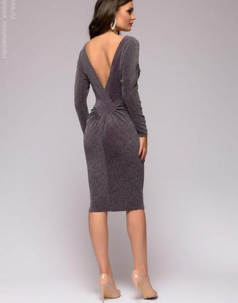 Платье с люрексом и открытой спиной