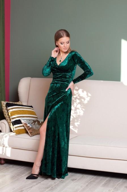 Платье в пол из бархата