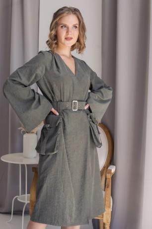 Платье на запах с карманами Lilya Sidorova-BRANDWOMEN