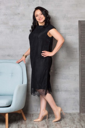 Гипюровое платье с короткими рукавами