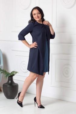 Платье-мини со вставкой