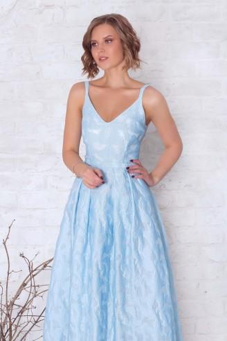 Платье в пол на бретельках