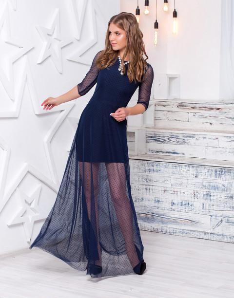 Двухслойное платье в пол