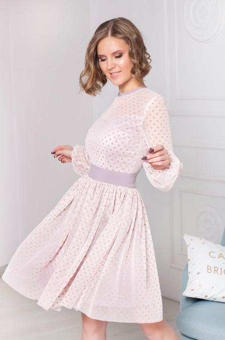 Двухслойное платье-мини из фатина