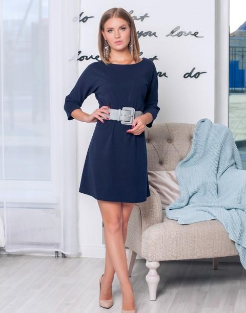 Свободное платье-мини с рукавом