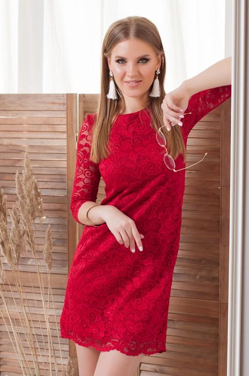 Кружевное платье-мини