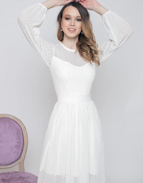 Двухслойное платье-миди из фатина