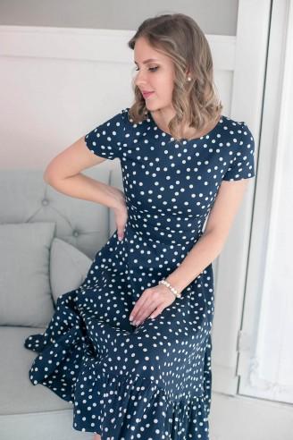 Платье длины миди с воланом