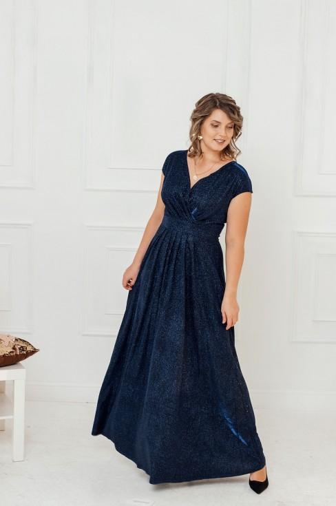 Платье-макси без рукавов с драпировкой