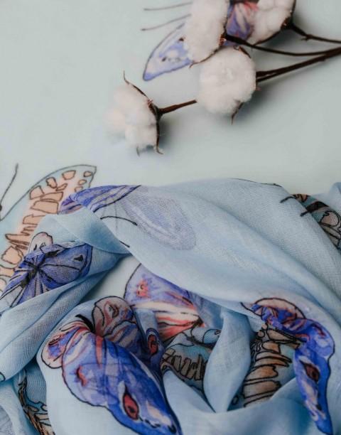 Палантин текстильный с принтом