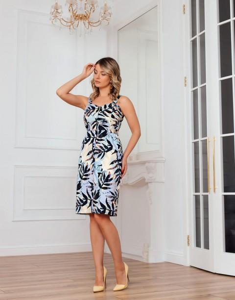 Платье-сарафан с поясом на пуговицах