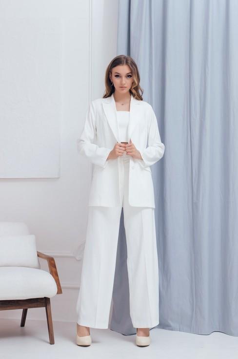 Пиджак прямого кроя с имитацией карманов