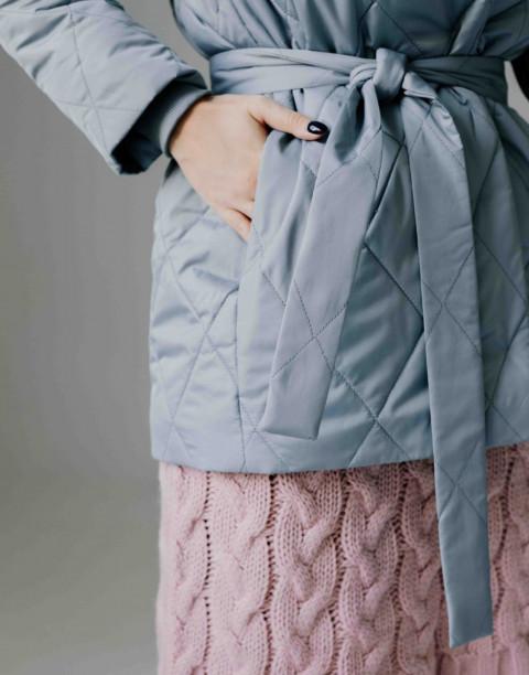 Утепленная куртка на кнопках