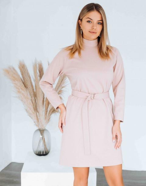 Платье-мини с рукавом реглан и поясом